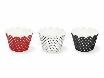 Cupcake wrappers, mix, 5 x 7.5 x 5cm (1 ctn / 50 pkt) (1 pkt / 6 pc.)