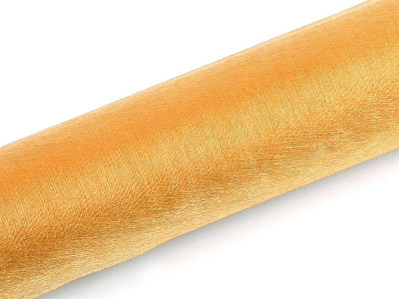Organza zlatá ligotavá 16cm 6ks
