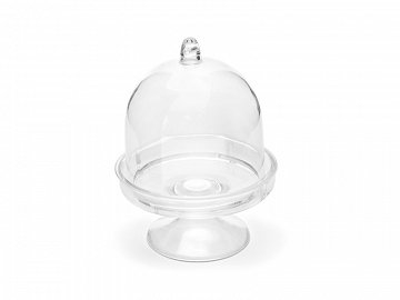 Boxes Cake Stand, colourless, 5.5x7.5cm (1 ctn / 15 pkt) (1 pkt / 3 pc.)