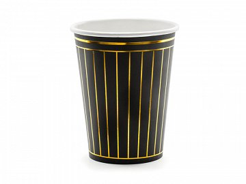 Cups Strips, black, 260ml (1 pkt / 6 pc.)