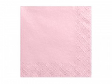 Napkins, 3 layers, light pink, 33x33cm (1 pkt / 20 pc.)