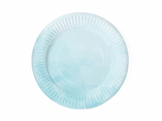 Summer time plates, turquoise, 18 cm (1 pkt / 6 pc.)
