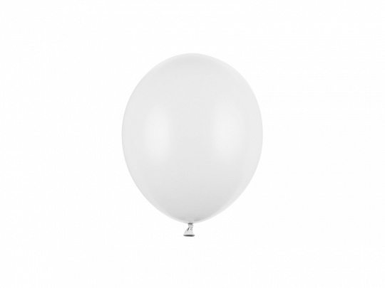 Balony Strong 12cm, Pastel Pure White (1 op. / 100 szt.)