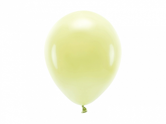 Eco Balloons 26cm pastel, light yellow (1 pkt / 10 pc.)