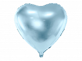 Foil Balloon Heart, 45cm, sky-blue