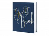 Guest Book, 20x24.5cm, navy blue, 22 pages