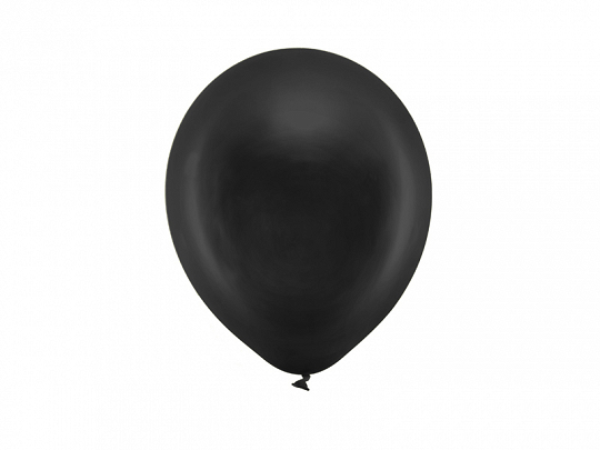 Rainbow Balloons 23cm metallic, black (1 pkt / 10 pc.)