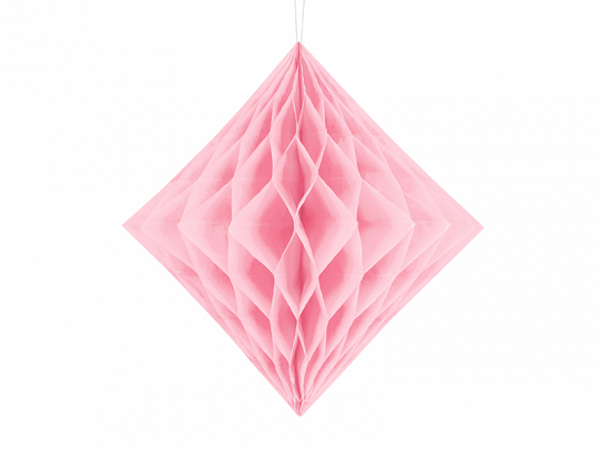 Honeycomb Diamond, light pink, 30cm