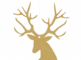 Hanging decoration Rudolf, gold, 9.4 x 14.5cm (1 pkt / 10 pc.)