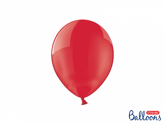 Strong Balloons 23cm, Crystal Poppy Red (1 pkt / 100 pc.)