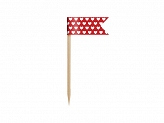 Cupcake Toppers Mini Flags Ladybug, mix, 7cm (1 pkt / 6 pc.)