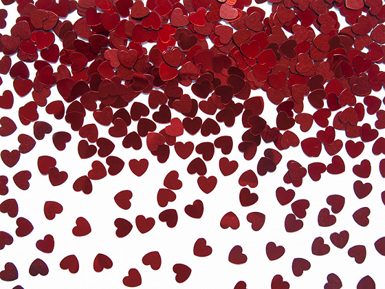 Confetti Hearts, red, 5mm, 30g