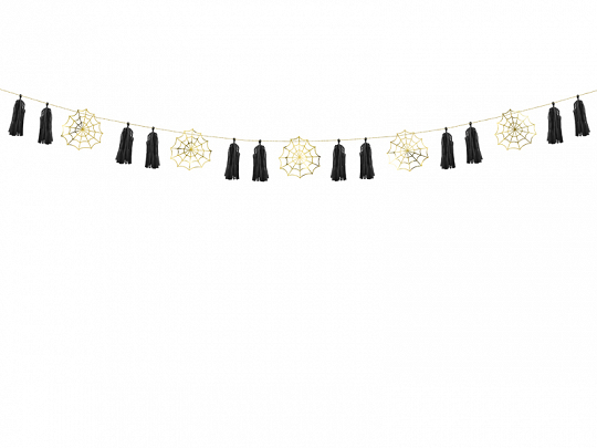 Paper garland - Spiderwebs, 1.75m