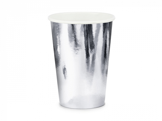 Cups, silver, 220ml  (1 ctn / 25 pkt) (1 pkt / 6 pc.)