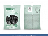 Eco Balloons 30cm metallic, black (1 pkt / 100 pc.)