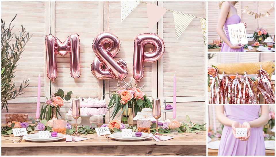 Lavender & Rose Gold Wedding